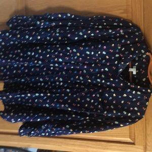 Navy long sleeve Talbots blouse